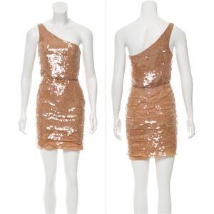 ALICE + OLIVIA One-Shoulder Mini Dress